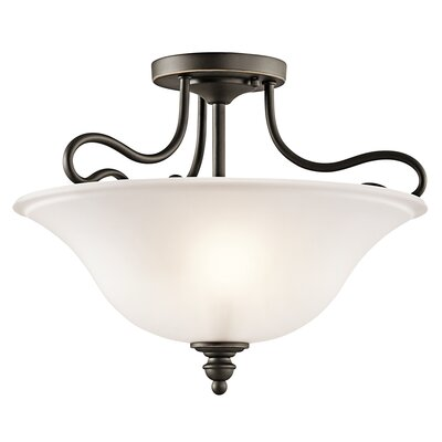 Haynes 2-Light Semi Flush Mount Finish: Olde Bronze