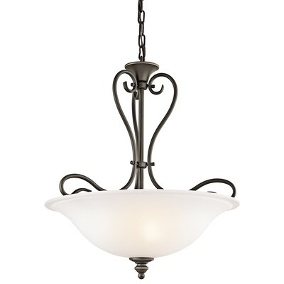 Haynes 3-Light Inverted Pendant Finish: Olde Bronze