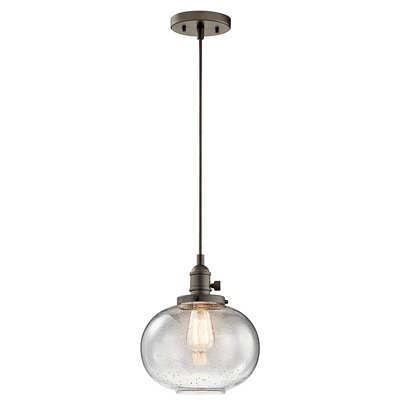 Antioch 1-Light Mini Pendant Finish: Olde Bronze