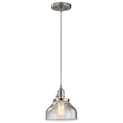 Antioch 1-Light Mini Pendant Finish: Brushed Nickel