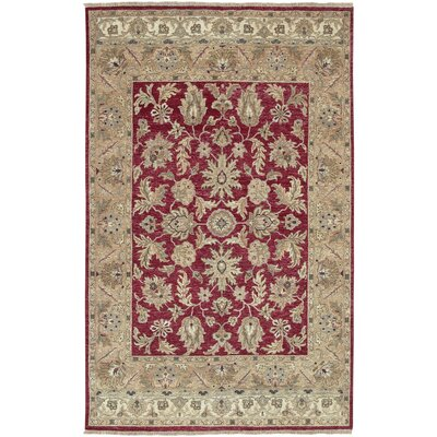 Darmstadt Beige/Burgundy Rug Rug Size: Rectangle 39 x 59