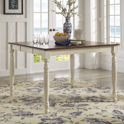 Westlund Counter Height Dining Table Base Finish: Antique White/Cherry