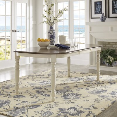 Westlund Extendable Dining Table Base Finish: Antique White/Cherry