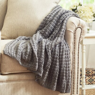 Pennsbury Throw Blanket Color: Gray