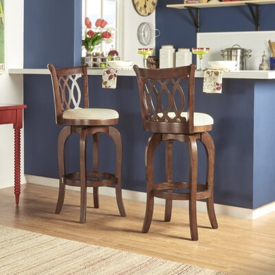 Heartwood 29 Swivel Bar Stool Upholstery: Beige