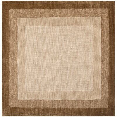 Leister Hand-Loomed Beige/Brown Area Rug Rug Size: Square 6