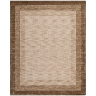 Leister Hand-Loomed Beige/Brown Area Rug Rug Size: 76 x 96