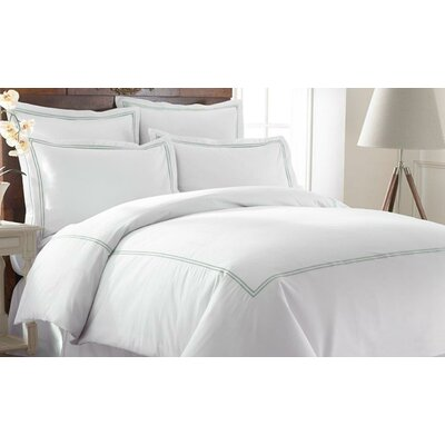 Meadow View Duvet Set Size: Queen, Color: Soft Jade
