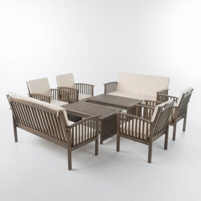 Haubstadt 8 Piece Lounge Seating Group with Cushion