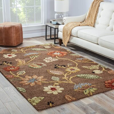 Davisson Cocoa Brown Rug Rug Size: 96 x 136