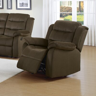 Poppy Manual Glider Recliner Upholstery: Chocolate