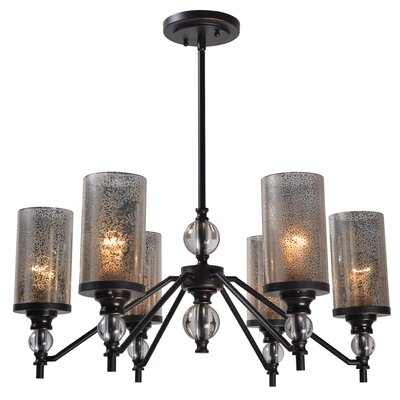 Hammersdale 6-Light Shaded Chandelier