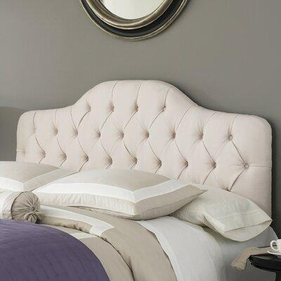 Hanley Upholstered Panel Headboard Size: Full / Queen, Upholstery: Ivory