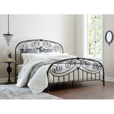 Schaumburg Open-Frame Headboard and Footboard Finish: Black, Size: Queen