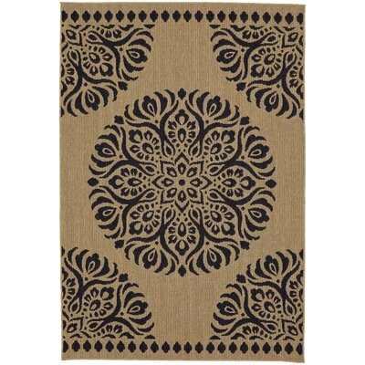 Chesterfield Natural/Navy Indoor/Outdoor Area Rug