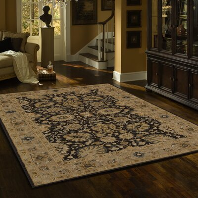 Dearborn Hand-Tufted Charcoal Area Rug Rug Size: Rectangle 56 x 86