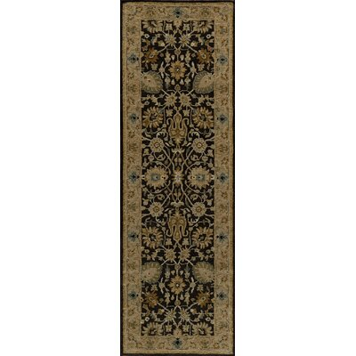Wakeman Hand-Tufted Charcoal Area Rug Rug Size: Runner 2'6