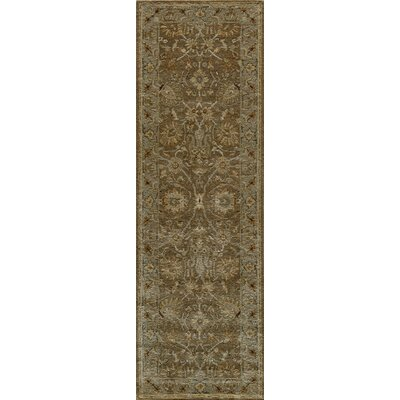 Dearborn Hand-Tufted Mocha Area Rug Rug Size: Rectangle 76 x 96