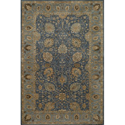 Dearborn Hand-Tufted Blue/Ivory Area Rug Rug Size: Rectangle 36 x 56
