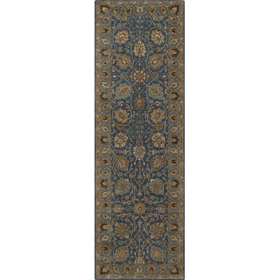 Wakeman Hand-Tufted Blue/Ivory Area Rug