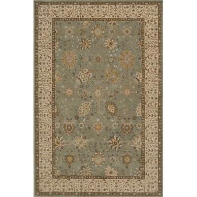 Wakeman Hand-Tufted Jade/Brown Area Rug