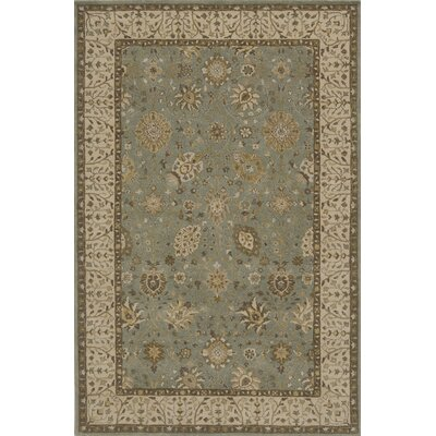 Wakeman Hand-Tufted Jade/Brown Area Rug Rug Size: 36 x 56