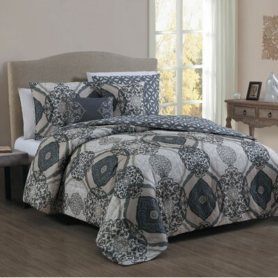 Byrd 5 Piece Comforter Set Size: King, Color: Taupe