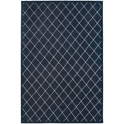 Decaro Navy/Ivory Trellis Area Rug Rug Size: Rectangle 710 x 1010