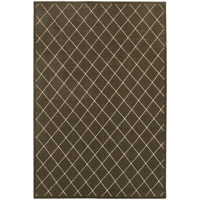 Decaro Brown/Ivory Area Rug Rug Size: Rectangle 53 x 76