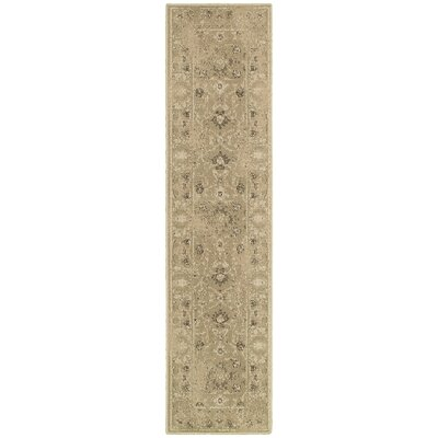 Bingley Tan/Gray Area Rug Rug Size: Runner 110 x 76