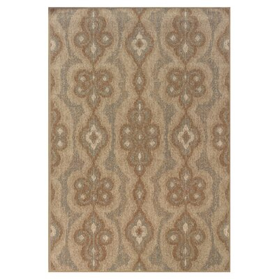 Bingley Blue/Beige Area Rug Rug Size: 53 x 76