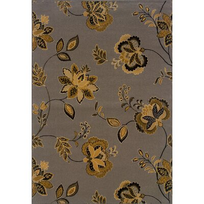 Welby Gray/Gold Area Rug Rug Size: 910 x 129