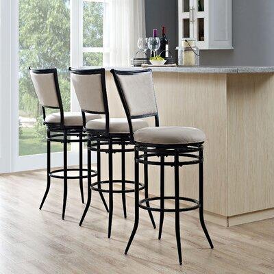 Massena 44.5 Swivel Bar Stool Upholstery: White