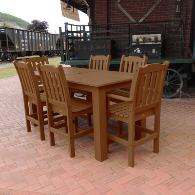 Amelia 7 Piece Bar Height Dining Set Finish: Toffee