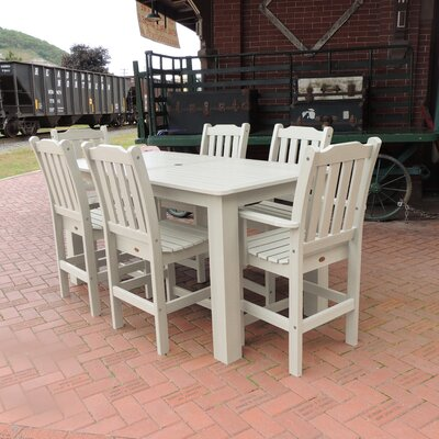 Amelia 7 Piece Bar Height Dining Set Finish: Whitewash