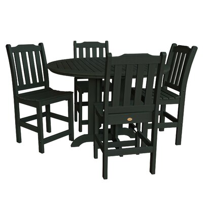 Amelia 5 Piece Counter Height Dining Set Finish: Charleston Green