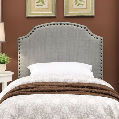 Coleshill Upholstered Panel Headboard Upholstery: Gray, Size: Twin