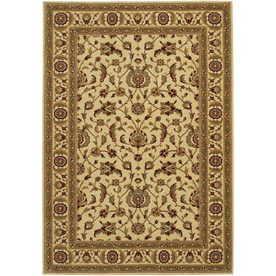 Decatur Linen/Beige Area Rug Rug Size: 53 x 76