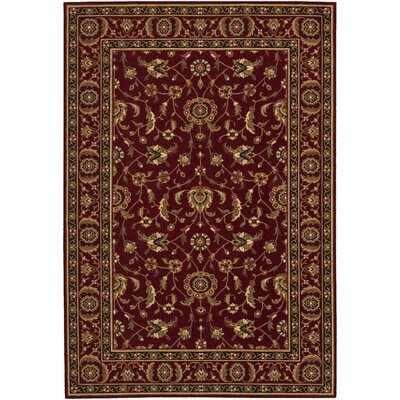 Decatur Red/Yellow Area Rug Rug Size: 53 x 76