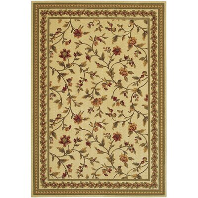 Albertine Yellow Area Rug Rug Size: 53 x 76