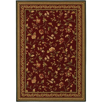 Albertine Red Area Rug Rug Size: Rectangle 47 x 66