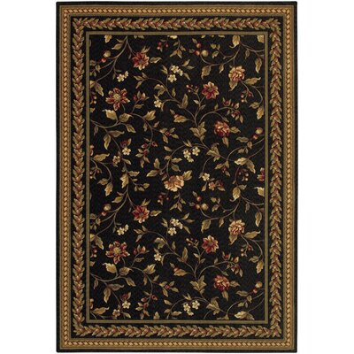 Albertine Black Area Rug Rug Size: 22 x 46