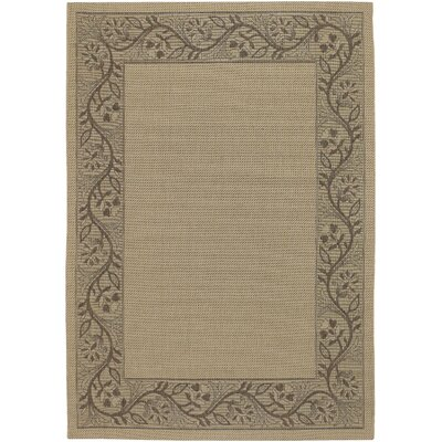 Carriage Gray/Brown Indoor/Outdoor Area Rug Rug Size: 37 x 55