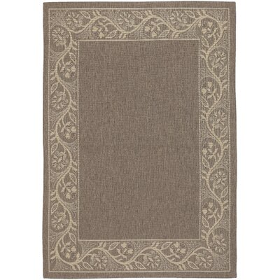 Carriage Brown/Gray Indoor/Outdoor Area Rug Rug Size: 76 x 109
