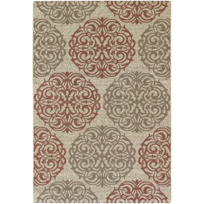 Janie Cream Indoor/Outdoor Area Rug Rug Size: Rectangle 37 x 55