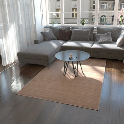Gillam Light Brown Area Rug Rug Size: 10 x 13