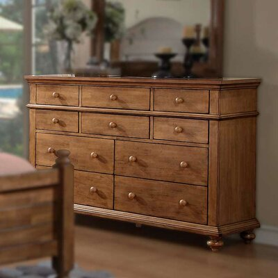 Courtdale 10 Drawer Dresser Color: Acacia