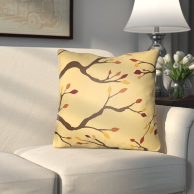 Bramhall Indoor/Outdoor Throw Pillow Size: 20 H x 20 W x 4 D, Color: Yellow/Brown/Red