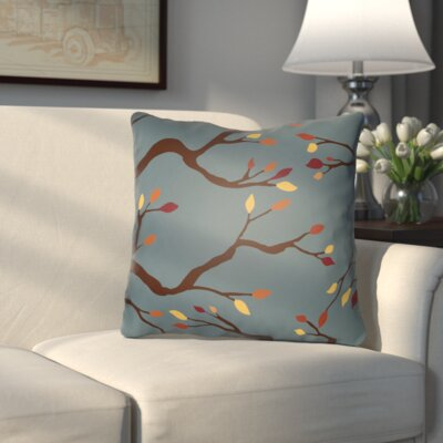 Bramhall Outdoor Throw Pillow Size: 18 H x 18 W x 4 D, Color: Blue/Brown/Yellow/Red