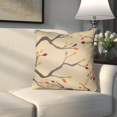 Bramhall Indoor/Outdoor Throw Pillow Color: Beige/Brown/Yellow/Red, Size: 20 H x 20 W x 4 D